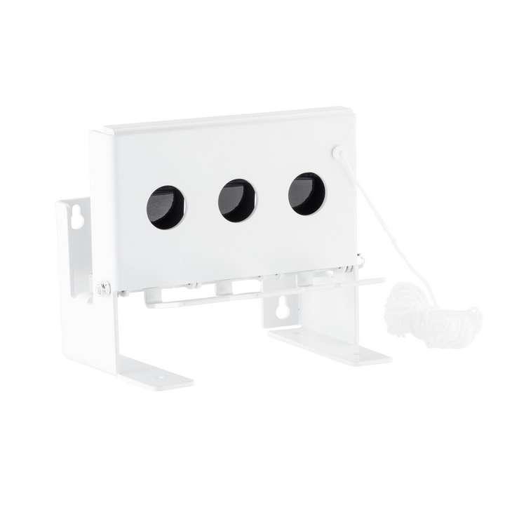 Cible mobile type biathlon petit modèle 3 trous pour 4,5 mm