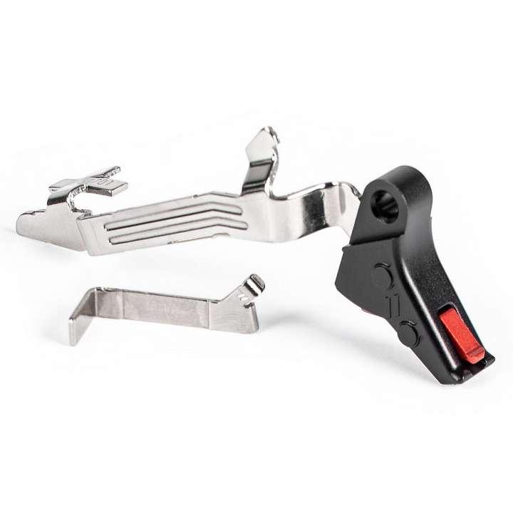 ZEV Détente Pro Flat Face BAR KIT pour Glock Gen5 - rouge