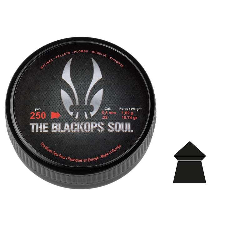 Plombs The Black Ops Soul à tête pointue cal. 5,5 mm