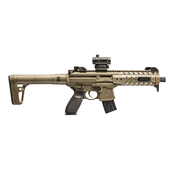 Réplique Carabine Sig Sauer MPX CO2 4.5MM Plombs + Point Rouge Sig 20R