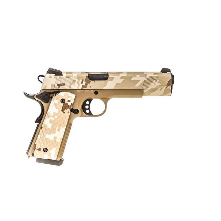 Réplique GBB 1911 MEU Raven full metal gaz Digital Desert 1,0J