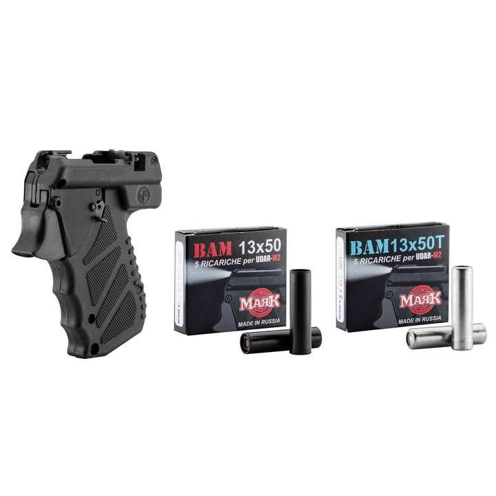 Pack Pistolet lacrymogène UDAR M2 cal.13X50 +5 MUN. PEPPER+5 MUN. TRAINING