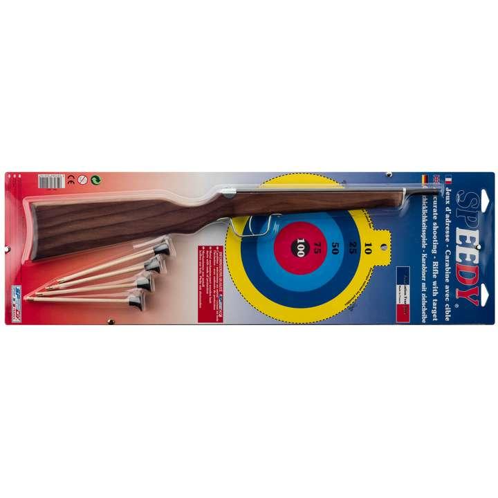 Carabine à fléchettes avec 4 fléchettes