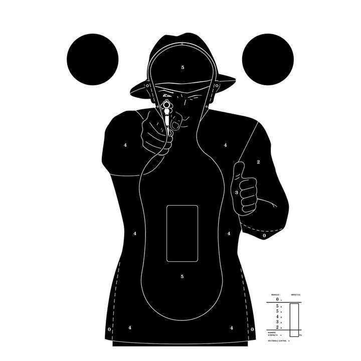 Cibles Silhouette Police