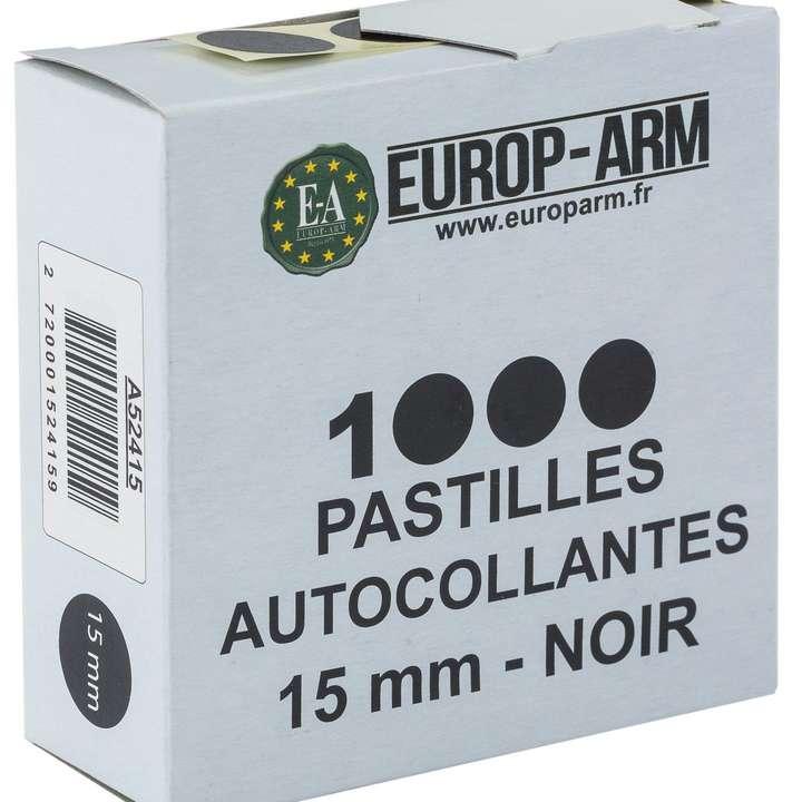 Pastilles Autocollantes diam 15 ou 19mm Blanche ou Noir