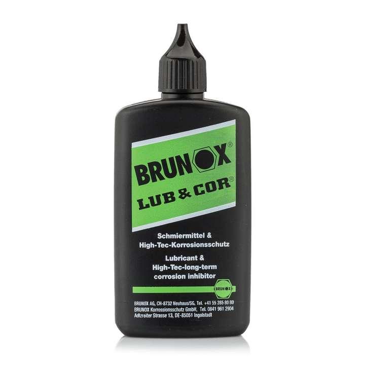 Lubrifiant Lub & Cor en bouteille 100 ml avec orifice goutte à goutte - Brunox