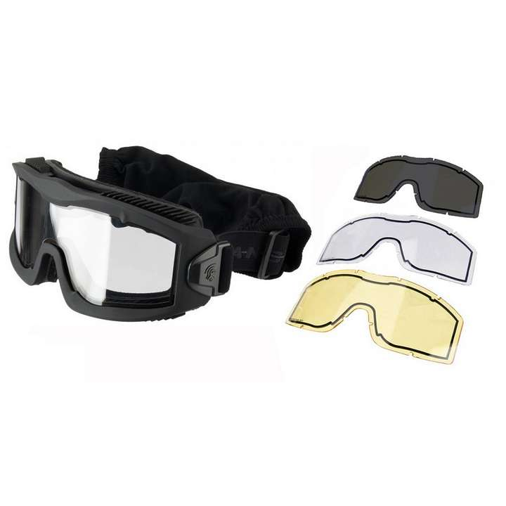 Masque série AERO Thermal noir avec 3 écrans