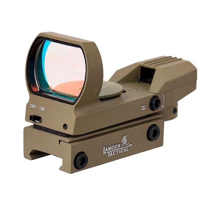 Point rouge métal Reflex 4 réticules rouge / vert Tan